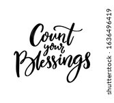 cout your blessings. christian... | Shutterstock .eps vector #1636496419