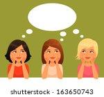 cute cartoon illustration of...   Shutterstock .eps vector #163650743
