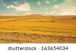 Arid Empty Landscape With...