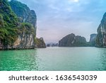 beautiful view of the halong...   Shutterstock . vector #1636543039