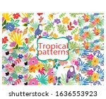 colorful pattern flower with... | Shutterstock .eps vector #1636553923