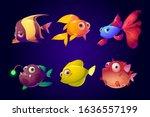Sea Fish Set  Tropical Colorful ...