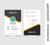 the best id card design... | Shutterstock .eps vector #1636561009