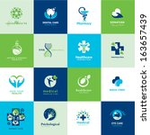 set of medical flat icons     | Shutterstock .eps vector #163657439