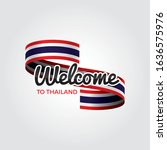 welcome to thailand flag.... | Shutterstock .eps vector #1636575976