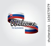 welcome to slovakia flag.... | Shutterstock .eps vector #1636575979