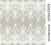 seamless lace pattern  flower...   Shutterstock .eps vector #1636625029