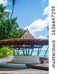 beachside pool bar in island ko ...   Shutterstock . vector #1636647259