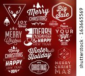 collection of christmas... | Shutterstock .eps vector #163665569