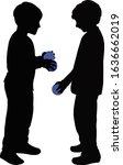 children making chat ... | Shutterstock .eps vector #1636662019