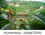 a street in the city of sun...   Shutterstock . vector #1636672030