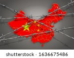 Map Of China With Barbed Wire ...