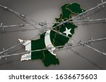 Map Of Pakistan With Barbed...