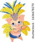 illustration of cute samba... | Shutterstock .eps vector #1636678270