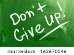 don't give up concept | Shutterstock . vector #163670246