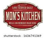 mom's kitchen vintage rusty... | Shutterstock .eps vector #1636741369