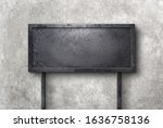 old rusty metal sign elongated... | Shutterstock . vector #1636758136