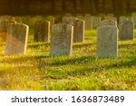 Tombstones In Warm Evening...