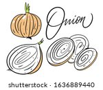 different whole onion  half and ...
