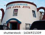 Small photo of Tacoma, Washington, United States - June 16, 2019: Exterior of Bob's Java Jive, an tourist attraction shaped as a tea pot.