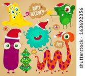 Funny Christmas Monsters Set