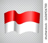 3d realistic waving flag of...