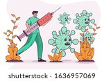 vector illustration people with ... | Shutterstock .eps vector #1636957069