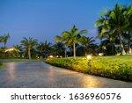 Illuminated Light In Resort...
