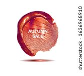 autumn sale. the background is... | Shutterstock . vector #1636968910