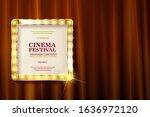 cinema festival. theater sign... | Shutterstock . vector #1636972120