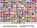 flags of the world in vector...   Shutterstock .eps vector #1636972756