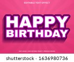 happy birthday text effect... | Shutterstock .eps vector #1636980736