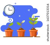 growing plant time....   Shutterstock .eps vector #1637013316