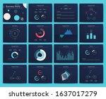 big set of infographics...   Shutterstock .eps vector #1637017279