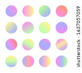 rounded holographic sphere... | Shutterstock .eps vector #1637057059