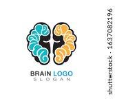 brain health logo creative... | Shutterstock .eps vector #1637082196