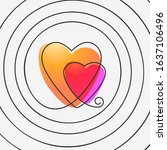 two hearts in spiral ... | Shutterstock .eps vector #1637106496