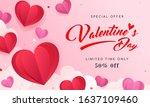 valentine's day sale background ...   Shutterstock .eps vector #1637109460