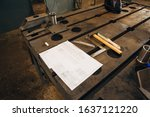 Worker Welding Table At The...