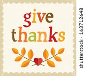 fun thanksgiving card design in ... | Shutterstock .eps vector #163712648