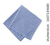 Folded Checkered Napkin...