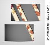 business cards design | Shutterstock . vector #163714244