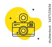 vector icon of a camera with... | Shutterstock .eps vector #1637153656