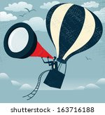 abstract businessman gets the... | Shutterstock .eps vector #163716188