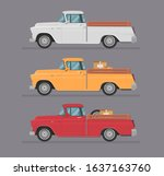 colorful car set. isolated auto ... | Shutterstock .eps vector #1637163760