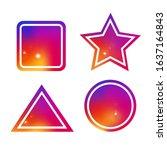 colourful instagram shapes set. ...