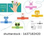 finger puppet vector animals.... | Shutterstock .eps vector #1637182420