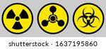radiation sign  biological... | Shutterstock .eps vector #1637195860