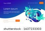 seo optimization and data... | Shutterstock .eps vector #1637233303