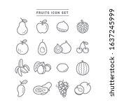 collection of fruit line icons | Shutterstock .eps vector #1637245999